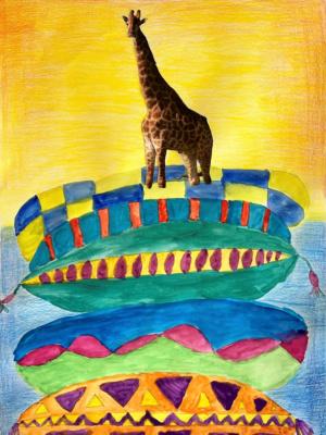 Februar 2021: Die Giraffe auf der Erbse